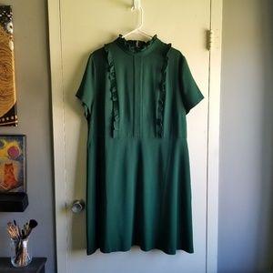 Eloquii - ruffle mock neck dress - Size 18